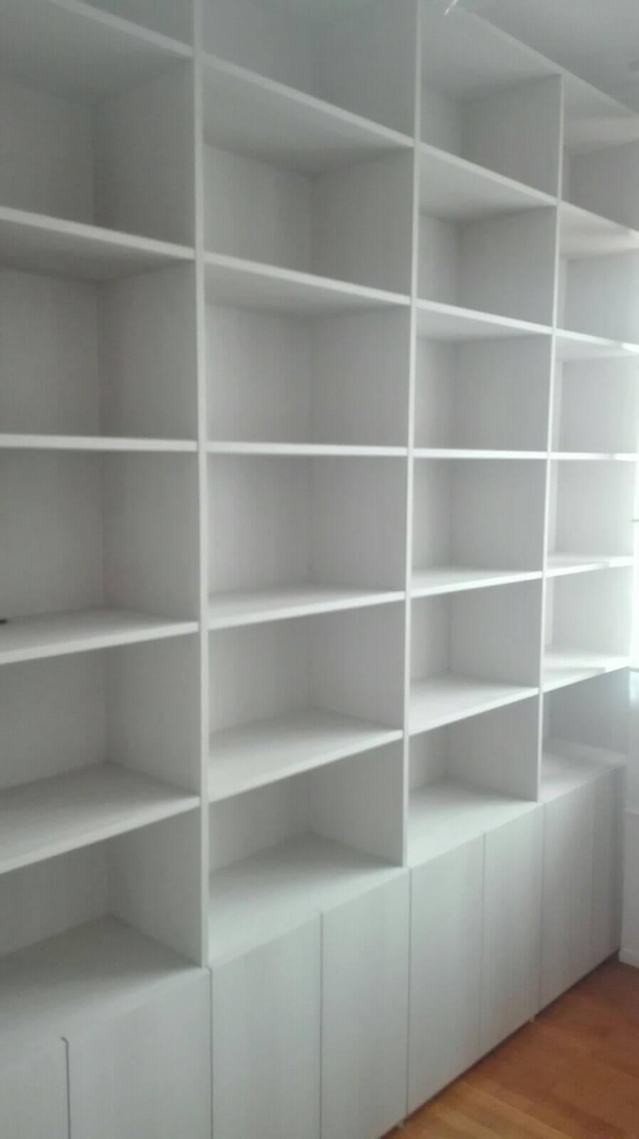 Libreria per studio/ufficio realizzata dalla Falegnameria Berardi a Torino